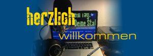 """Grafik """"Herzlich Willkommen""""."""
